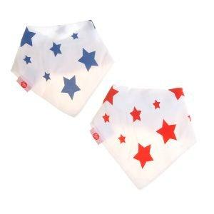 Ziggle Baby Unisex Bandana Dribble Bib Large Stars