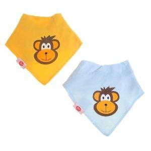 Ziggle Baby Bandana Dribble Bib Monkey