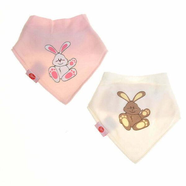 Ziggle Baby Bandana Dribble Bib Cute Rabbit