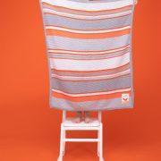 Cosatto Grey and orange striped bib
