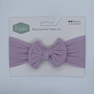 lavendar top bow turban headband