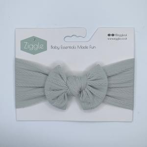 Sage top bow turban headband