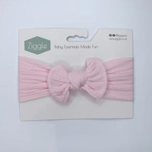 heavenly pink top bow turban headband
