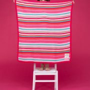 Pink stripes cosatto blanket