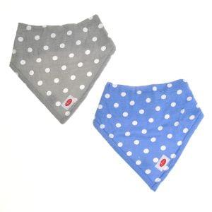Ziggle Baby Unisex Super Absorbent Bandana Dribble Bib White Polka Dots